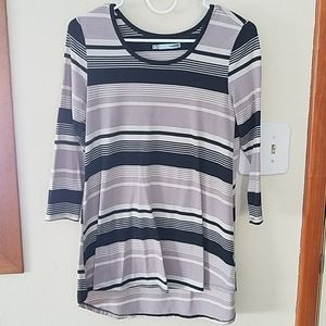 Maurices striped 3/4 sleeve sz S